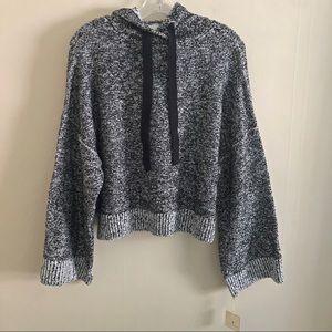 RUBY MOON cropped hooded sweatshirt